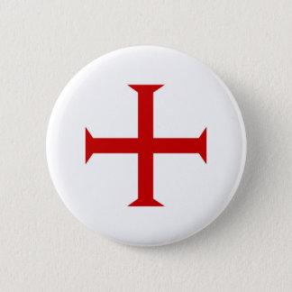 Badge Rond 5 Cm hospitall teutonic templar de Malte de Croix-Rouge