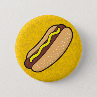 Badge Rond 5 Cm Hot dog