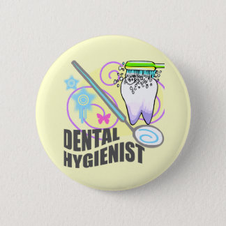 Badge Rond 5 Cm Hygiéniste dentaire