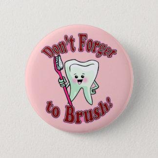 Badge Rond 5 Cm Hygiéniste dentaire drôle
