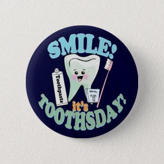 Badge Rond 5 Cm Hygiéniste dentaire drôle de dentiste