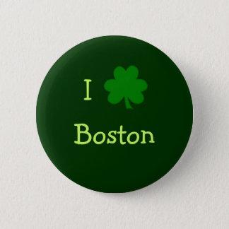 Badge Rond 5 Cm I bouton de Boston de shamrock