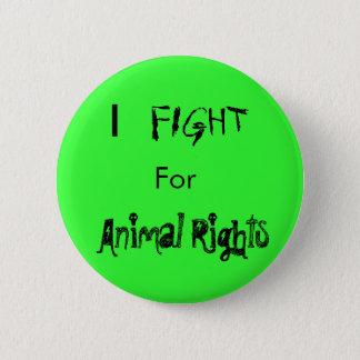 Badge Rond 5 Cm I, COMBAT, pour, droits des animaux
