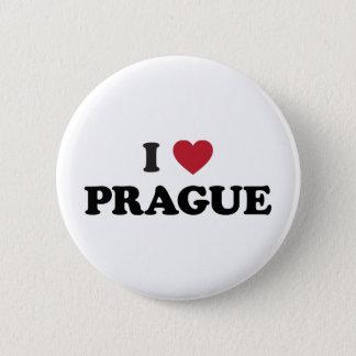 Badge Rond 5 Cm I République Tchèque de Prague de coeur