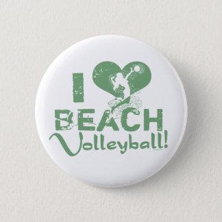 Badge Rond 5 Cm I volleyball de plage de coeur