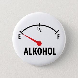 Badge Rond 5 Cm Icône de regard de côté d'Alkohol Anzeige