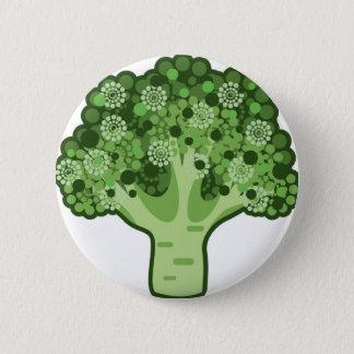 Badge Rond 5 Cm Icône de vecteur de brocoli