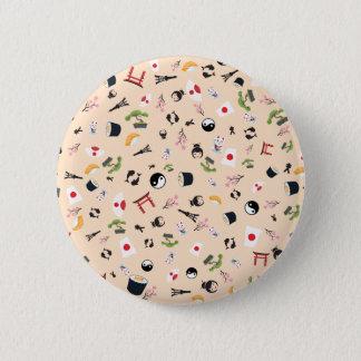 Badge Rond 5 Cm Icônes célèbres du Japon