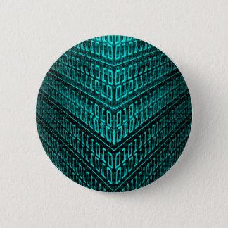 Badge Rond 5 Cm IL code binaire d'ordinateur de pointe de