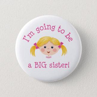 Badge Rond 5 Cm Im allant être une grande soeur - cheveux blonds