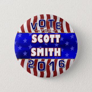 Badge Rond 5 Cm Indépendant 2016 de président élection de Scott