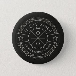 Badge Rond 5 Cm Indivisible, avec la liberté et la justice pour
