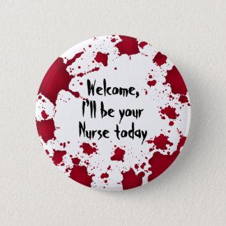 Badge Rond 5 Cm Infirmière drôle de Halloween