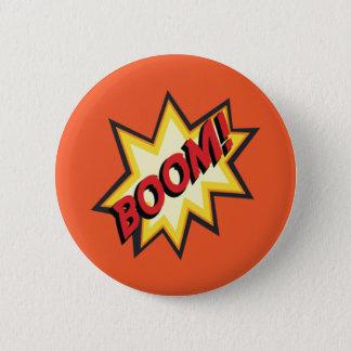 """Badge Rond 5 Cm Insigne comique de bouton de """"boom"""" des textes"""