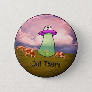 Badge Rond 5 Cm Insigne d'alien de faisceau de tracteur de vache à