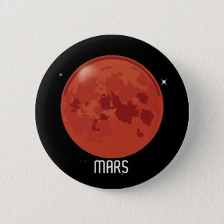 Badge Rond 5 Cm Insigne de bouton de Mars de planète