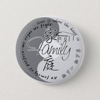 Badge Rond 5 Cm Insigne de famille avec les caractères chinois