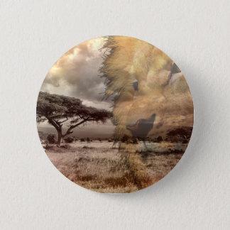 Badge Rond 5 Cm Insigne de lion