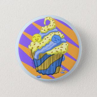 Badge Rond 5 Cm Insigne de petit gâteau de sentiments mitigés
