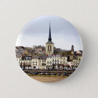 Badge Rond 5 Cm Insigne de scène de berge de Saumur