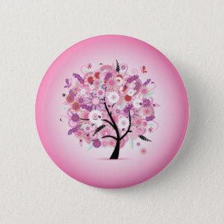 Badge Rond 5 Cm Insigne décoratif de fantaisie de bouton d'arbre