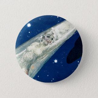 Badge Rond 5 Cm insigne d'étoile bleue
