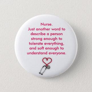 Badge Rond 5 Cm Insigne d'infirmière