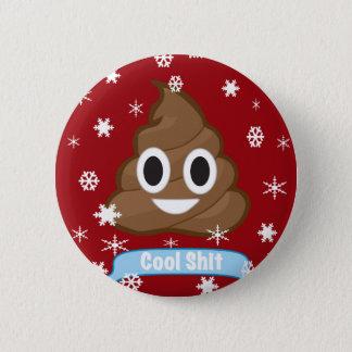 Badge Rond 5 Cm Insigne drôle de bouton de Noël d'Emoji de dunette