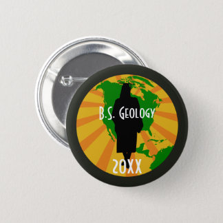 Badge Rond 5 Cm Insigne licencié de géologie (femelle)