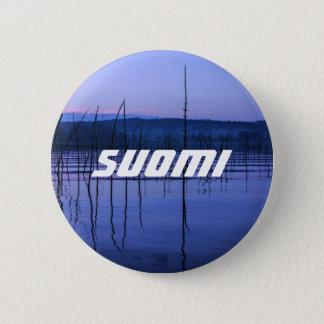 Badge Rond 5 Cm Insigne serein et brumeux de Suomi de lac