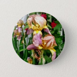 Badge Rond 5 Cm Iris par la clôture