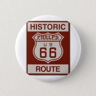 Badge Rond 5 Cm Itinéraire 66 de Phelps