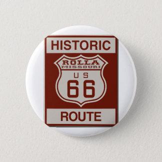Badge Rond 5 Cm Itinéraire 66 de Rolla