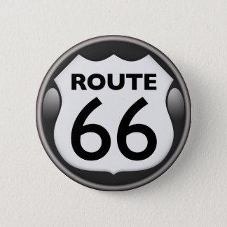 Badge Rond 5 Cm Itinéraire historique 66 des USA