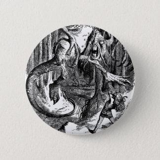 Badge Rond 5 Cm Jabberwocky et Alice