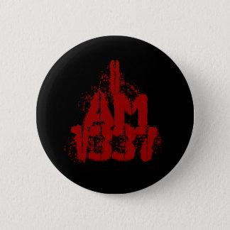 Badge Rond 5 Cm J'ai 1337 ans. Texte rouge-foncé. Gamer. de Leet