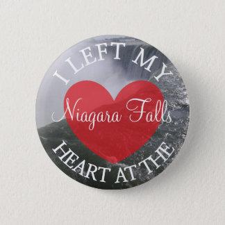 Badge Rond 5 Cm J'ai laissé mon coeur au bouton de chutes du