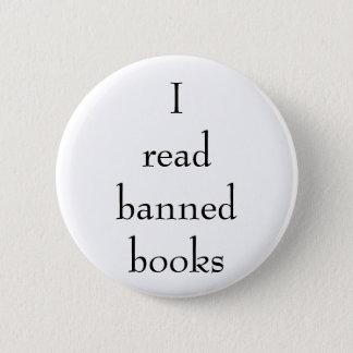 Badge Rond 5 Cm J'ai lu la goupille de livres interdits