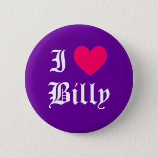 Badge Rond 5 Cm J'aime Billy