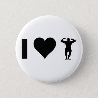 Badge Rond 5 Cm J'aime Bodybuilding