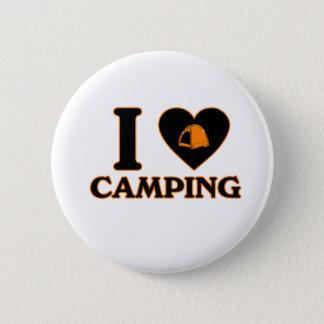 Badge Rond 5 Cm J'aime camper