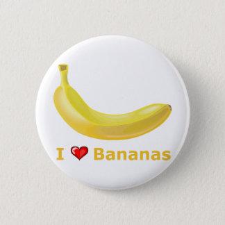 Badge Rond 5 Cm J'aime des bananes