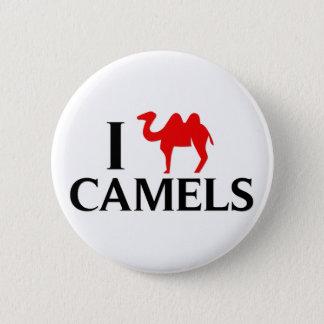 Badge Rond 5 Cm J'aime des chameaux
