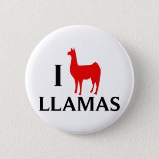 Badge Rond 5 Cm J'aime des lamas