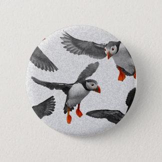 Badge Rond 5 Cm J'aime des macareux !