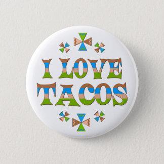 Badge Rond 5 Cm J'aime des tacos