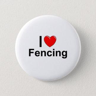Badge Rond 5 Cm J'aime la clôture de coeur