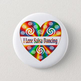 Badge Rond 5 Cm J'aime la danse de Salsa