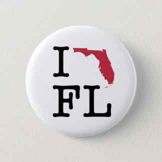 Badge Rond 5 Cm J'aime la Floride