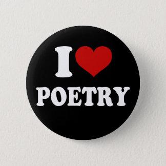 Badge Rond 5 Cm J'aime la poésie